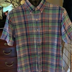 Ralph Lauren Mens Sz S short sleeve 💯 %linen